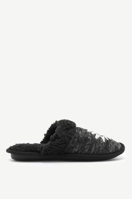 Ardene Aztec Knit Slippers