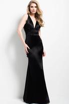 Jovani 46902 Sleek Plunging Sheath Gown