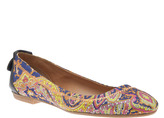 Carven Printed Cashmere Flats