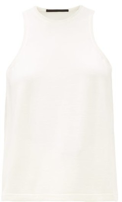 Haider Ackermann Silk-panel Wool Tank Top - Womens - White