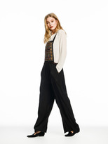 Scotch & Soda Embroidered Wide Leg Dungarees