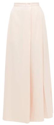 Thierry Colson Silvana High-rise Silk-twill Wrap Skirt - Pink