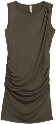 Loveappella Draped Front Dress