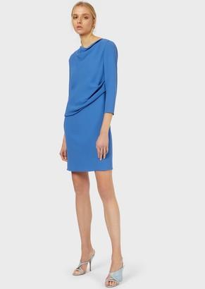 Emporio Armani Cady-Crepe Draped Dress