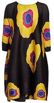 Pleats Please Issey Miyake Women's Bloom Full Shift Dress