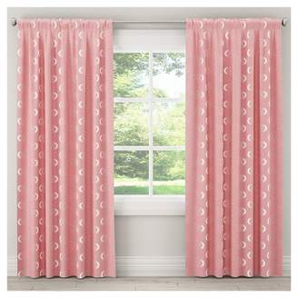 "Skyline Furniture Moon Blackout Curtain Panel (84""x50"") Pink"