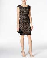 Connected Crochet Lace Cap-Sleeve Sheath Dress
