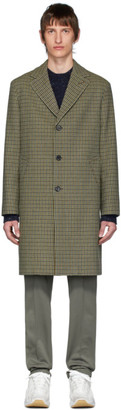 Acne Studios Brown Vichy Check Overcoat