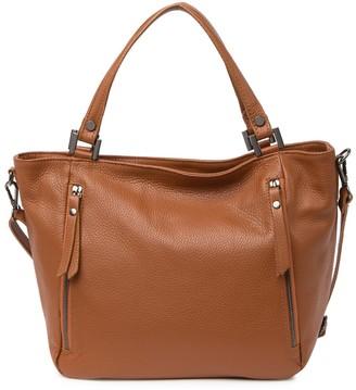 Roberta M Leather Top Handle Tote Bag