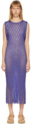 Issey Miyake Purple Netting Dress