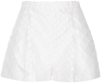 Alex Perry Bailey textured shorts