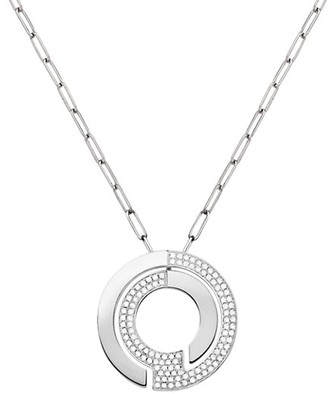 Dinh Van Seventies 18K White Gold & Diamond Pave Large Pendant Necklace