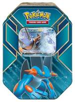 Pokemon Trading Card Game Hoenn Power Sprint Tin featuring Swampert