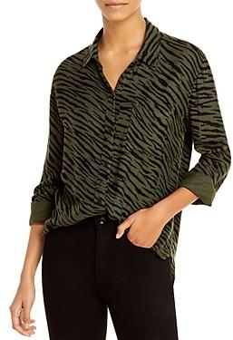Rails Hunter Zebra Striped Shirt