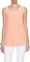 Magaschoni Silk Sleeveless Top with Organza