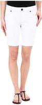 KUT from the Kloth Petite Natalie Bermuda Shorts in Optic White