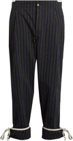 Loewe Striped cotton trousers