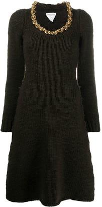 Bottega Veneta Chain-Link Detail Knitted Dress
