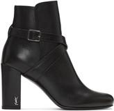 Saint Laurent Black Strap Babies Boots
