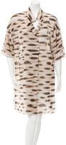 Akris Short Sleeve Printed Dress