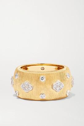 Buccellati Macri Eternelle 18-karat Yellow And White Gold Diamond Ring - 52