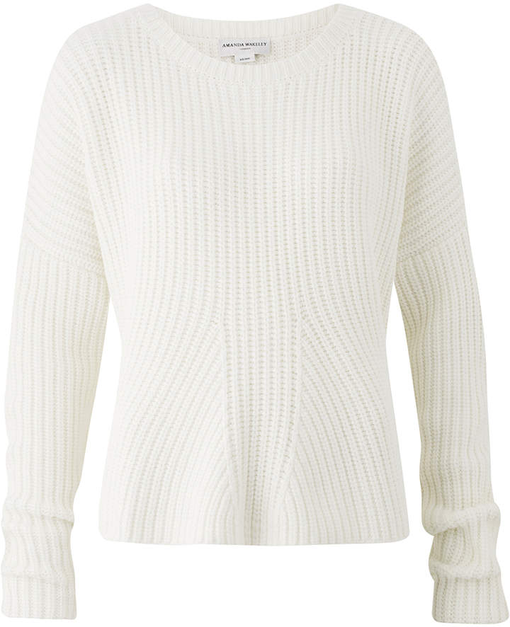 Amanda Wakeley Ecru Chunky Oversized Knitted Sweater