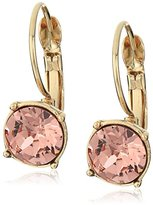 "Nine West Coral Glow"" Gold-Tone/Coral Lever back Drop Earrings"