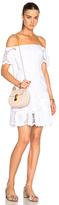 Nicholas Sunflower Off Shoulder Dress in White.