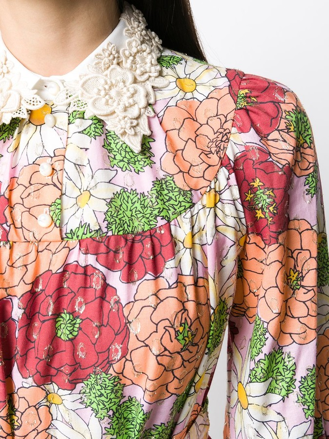 Thumbnail for your product : Marc Jacobs Floral Print Silk Dress