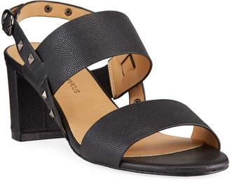 Neiman Marcus Myla Studded Slingback Sandals
