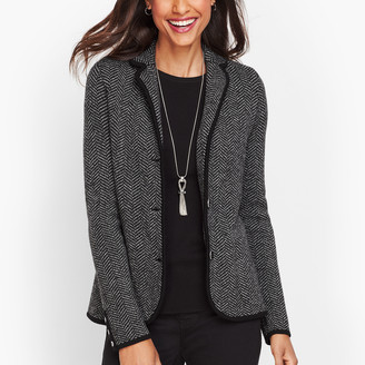 Talbots Merino Sweater Blazer - Herringbone
