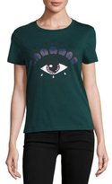Kenzo Short-Sleeve Eye Jersey Tee, Deep Green