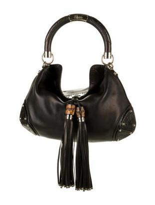 Gucci Medium Iridescent Indy Bag Black