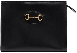 Gucci Horsebit-Embellished Leather Pouch