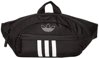 adidas Originals National 3-Stripes Waist Pack (Black/White) Bags