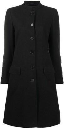 Helmut Lang Pre-Owned 1990s Mock Collar Knee-Length Coat