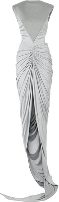 Burberry Panelled Ruched Gown