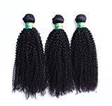 Cara Hair 6A Unprocessed Malaysian Virgin Hair Afro Kinky Curly Human Hair Weaves Hair Extensions 3Pcs Lot Natural Black Color 12inch