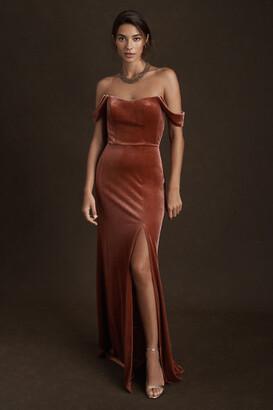 Jenny Yoo Issa Velvet Dress