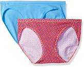 Hanes Women's 2-Pack Cotton Stretch Bikini Panty