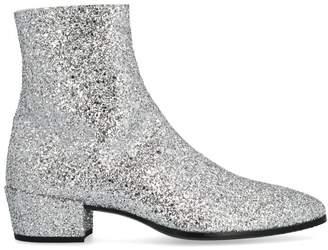 Saint Laurent Caleb Glitter Ankle Boots