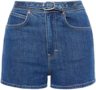 Rag & Bone Derby Belted Denim Shorts