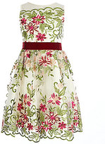 Rare Editions Big Girls 7-16 Floral-Embroidered Dress