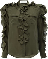 Faith Connexion frilled blouse - women - Silk - M