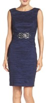 Eliza J Women's Embellished Taffeta Sheath Dress
