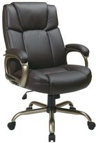 Office Star Products Espresso Eco-Leather Big Man's Executive Chair