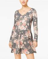 BCX Juniors' Printed Lace-Back Dress