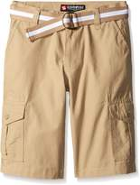 Southpole Big Boys Belted Rip Stop Basic Cargo Short with Washing All Season