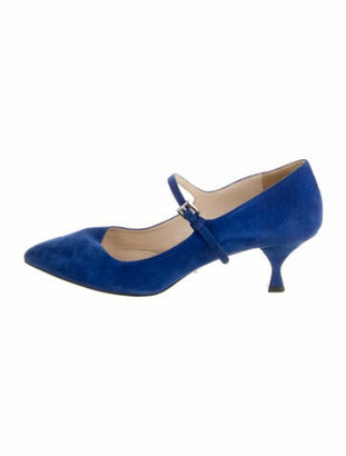 Prada Suede Pumps Blue