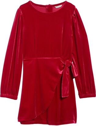 Habitual Logan Velour Wrap Dress